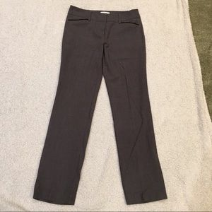 Gray skinny dress pants